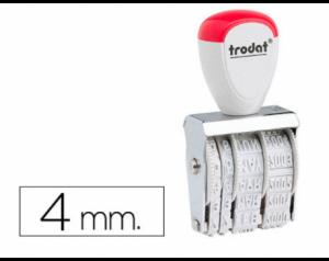 Datador Trodat 1010 Dia/Mês/Ano. 4mm.