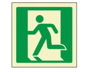 Pictograma sinal de saída de emergência