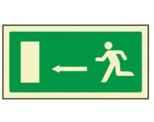 Pictograma sinal de saida emergência